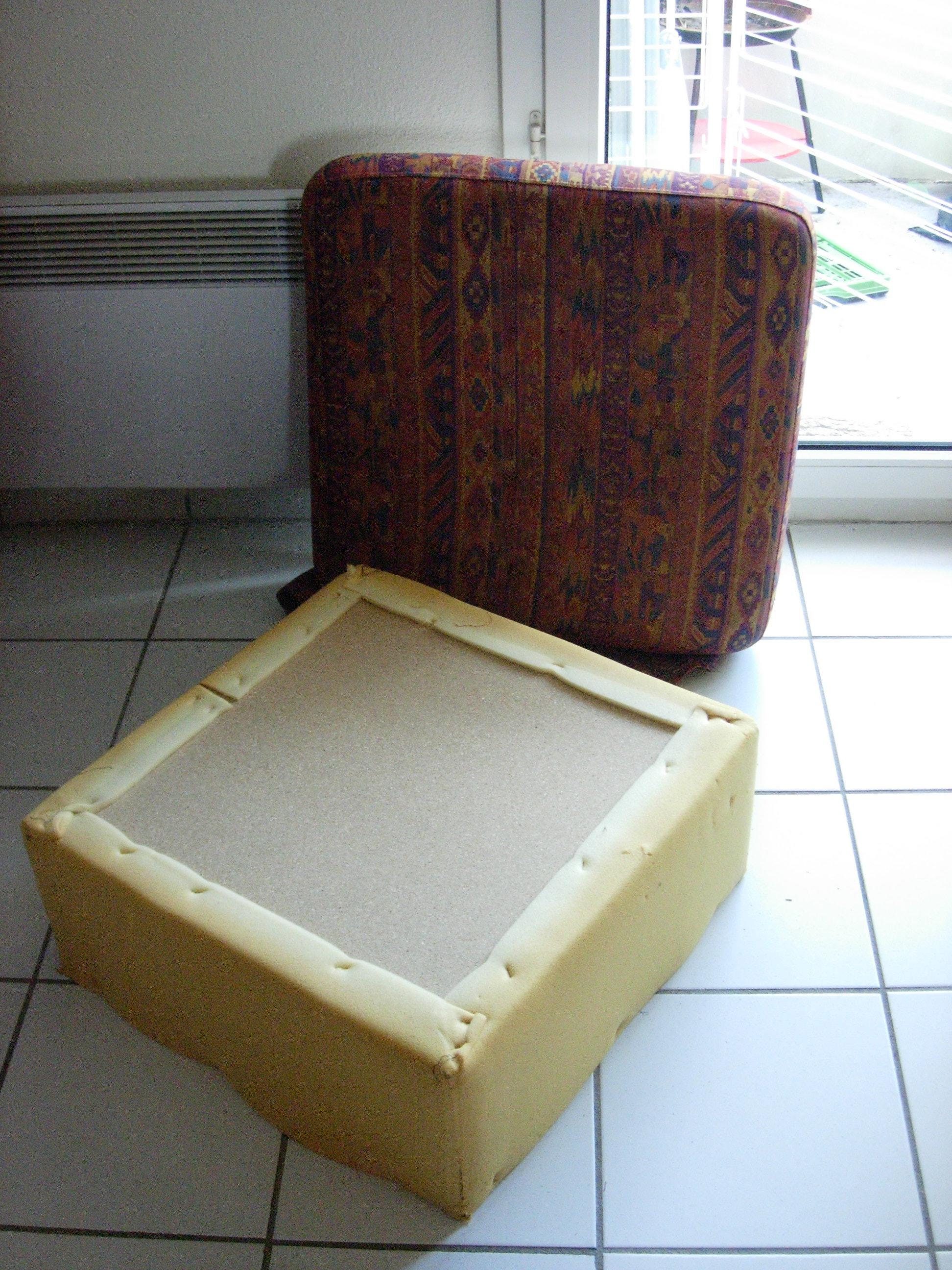 etape n 2 le pouf d 39 une aiguille l 39 autre. Black Bedroom Furniture Sets. Home Design Ideas